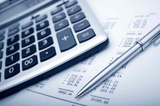 Finance Committee - Calculator and Pen Photo