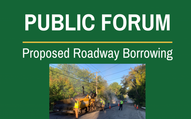 public forum proposed roadway borrowing