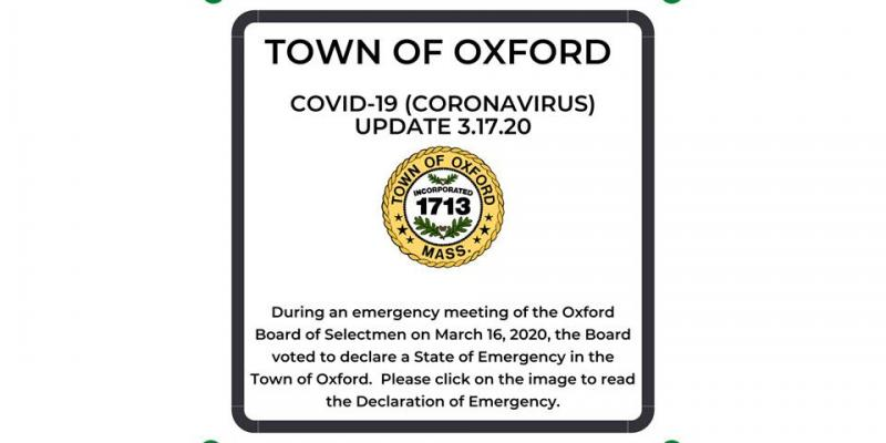 Town of Oxford COVID-19 Declaration of Emergency